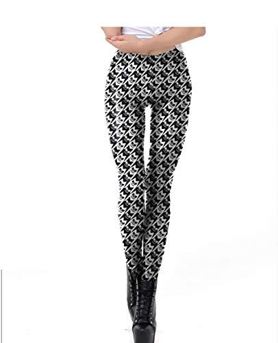XMNDS New Halloween Fashion 3D Digital Print Stretchy Leggings Multi-Colored S-3X A1