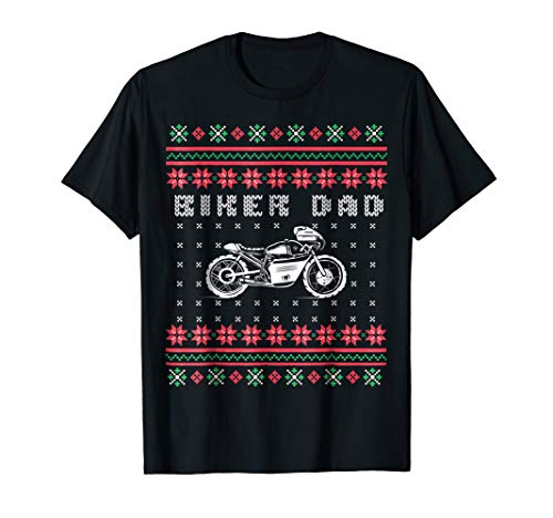Mens Biker Dad Street Motorcycle Ugly Sweater T-Shirt
