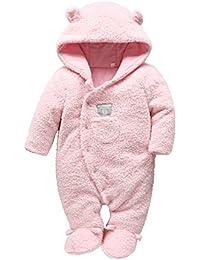 c719d4e5905f Newborn Baby Romper Winter Bear Style Fleece Hooded Plush Jumpsuit Cosplay  Clothes