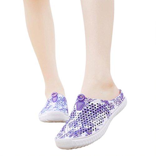 aimtoppyホット販売、女性の印刷カットアウト穴靴ビーチサンダル靴スリッパ US:7.5 ブラック AIMTOPPY