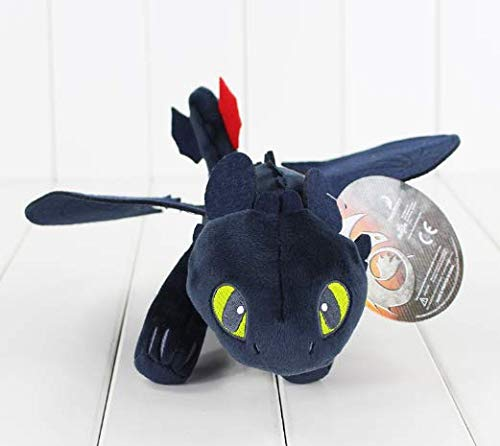 Stuffed Beef (CNC INC 23 cm Toothless Deluxe Night Fury Anime How to Train Your Dragon Stuffed Beef Doll Soft Toy Gift)