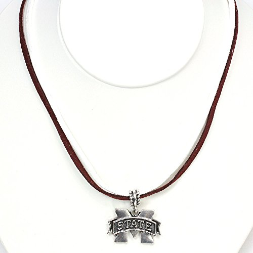 Mississippi State University Double Suede Cord Necklace
