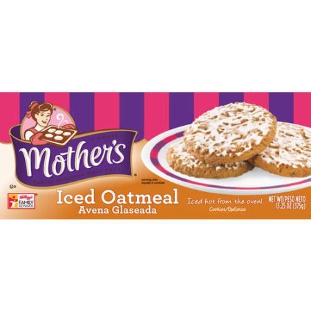 Mothers Cookies Iced Oatmeal, 13.25 Oz, Pack of 2