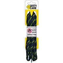 Safety Care Kevlar Fire Retardant Metal-Tip Boot & Shoe Laces - Resist Abrasion, Heat, Fire, Corrosion, Acid, Chemicals and Mold - Great for Welders, Firemen, Police & Construction - 152 cm to 183 cm Long