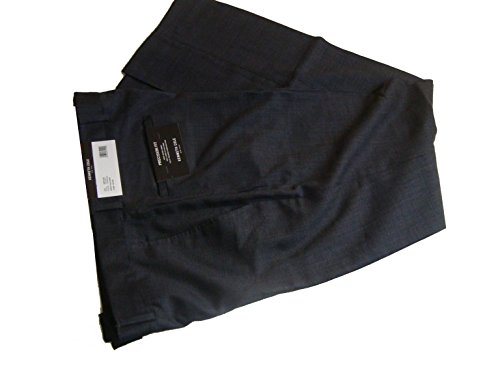Kenneth Cole New York Mens Wool Blend Precision Fit Dress Pants Charcoal 32/32