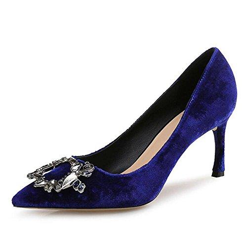 blue La Hauts YC à Chaussures Superficielles L Chaussures Talons Femme De pvwqY
