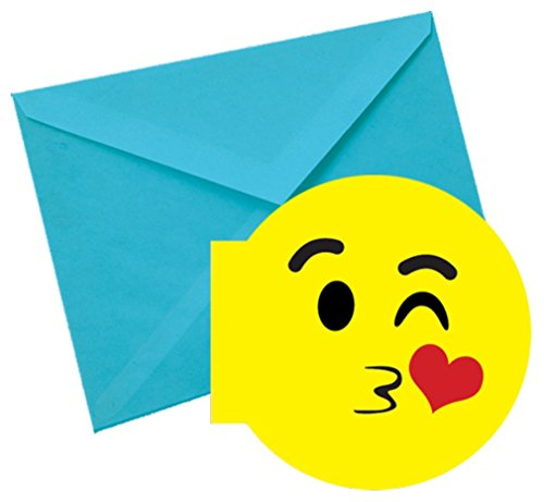 iscream SWAK! Kissy Emoji Strawberry Scented Notecards (Strawberry Paper Baskets compare prices)