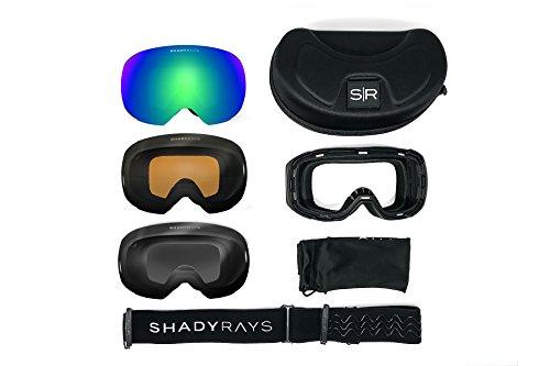 Shady Rays Bluebird Polarized Snow Goggle Mask and Interchangeable Lens - Rays Shady