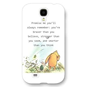 2015 CustomizedOnelee Customized Disney Series Phone Case for Samsung Galaxy S4, Winnie the Pooh Samsung Galaxy S4 Case, Only Fit for Samsung Galaxy S4 (White Frosted Shell)