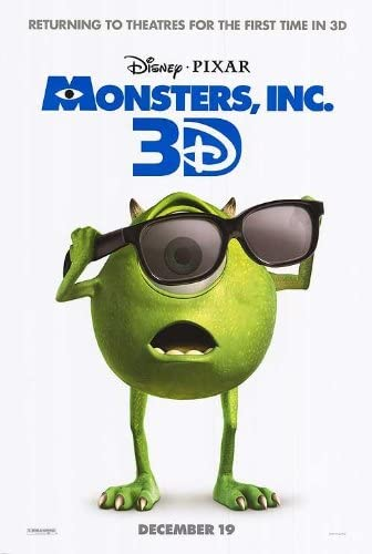 Monsters Inc 27 X40 D S Original Movie Poster One Sheet Disney 2001 Pixar At Amazon S Entertainment Collectibles Store