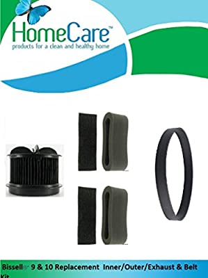 Home Care Products Created Bissell9 &10 Set. 1 Inner, 2 Outer, 2 Exhaust and 1 Belt 6579/6594 Power Force, Clean View II