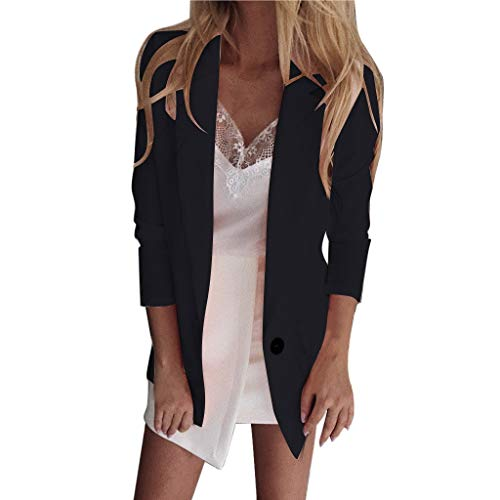 TEVEQ Womens Casual Cardigan Blazer Ruched Long Sleeve Open Front Fit Office Jacket