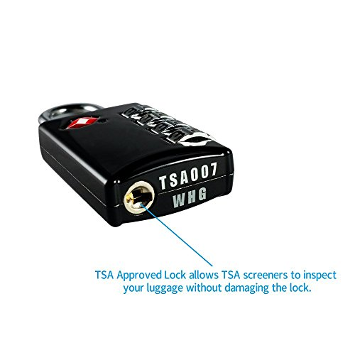 TSA Luggage Locks 2 Pack 4 Digit Combination Steel Approved for Travel Accessories Travel Baggage Suitcases Backpacks by TSA lock (Image #2)