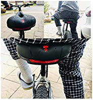 DESLE Comfort Bike Seat - Most Comfortable Silicone Waterproof Sturdy Shock-Absorbing Bicycle Saddle Taillight