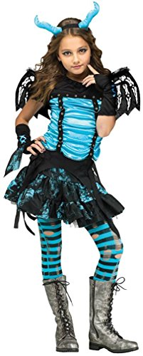 [Goth Dragon Fairy Girls Costume (Large (12-14)] (Dragon Girl Costume)