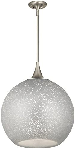 Kichler 43553NI Sitara Pendant, 1 Light Incandescent 100 Watts, Brushed Nickel