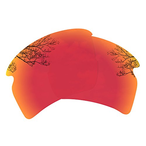 Dynamix Polarized Replacement Lenses for Oakley Flak 2.0 XL - Multiple Options (Fire Red, Polarized ()