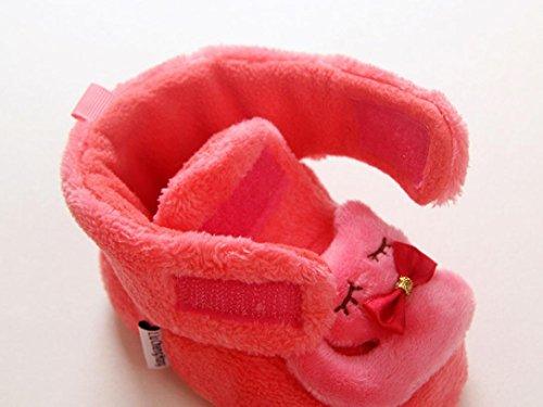TPulling Mode Herbst Und Frühling Kinder Junge Und Mädchen Warme Hauptschuhe der Babykarikatur-Form Prinzessin Schuhe Sportschuhe Rutschfeste Turnschuhe Lässige Schuhe Rot
