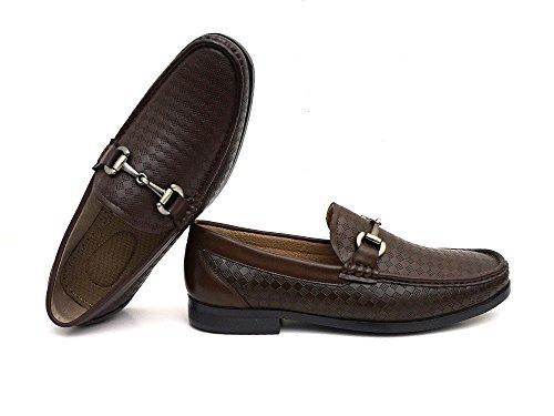 Chaussures Pour Hommes Easystrider Mocassins - Matériau Alligator De Première Qualité - Doublure En Faux Cuir - Boucle Élégante En Métal Argenté - Chaussure De Travail Parfaite Pour Les Hommes Ou Occasionnel Mocassin À Enfiler Pour Un Usage Quotidien Mocassins