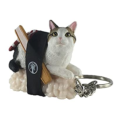 Sushi Cat Clever Idiots Nekozushi Keychain - Blind Box Includes 1 of 5 Collectable Figurines - Features a Detachable Keyring - Authentic Japanese Design (Version 2): Toys & Games