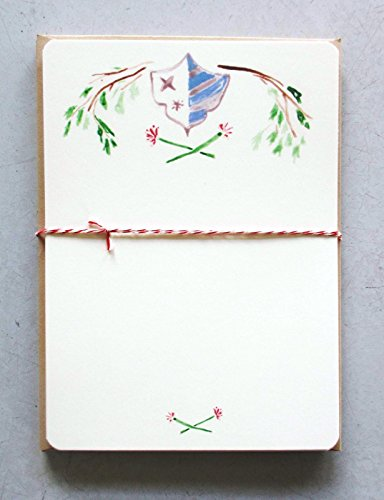 PARCEL: SHIELDS & BRANCHES Notecard Set, 8 Cards & Envelopes, Part of the MARTHA STEWART AMERICAN MADE (Medieval Times Invitations)