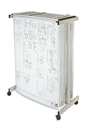 Adir Corp. Expandable Mobile Plan Center for Blueprints - Plans, Sand Beige with 12 24