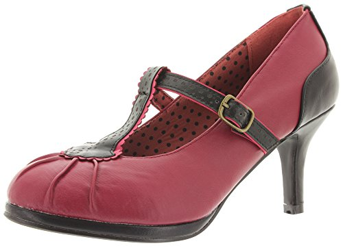 Banned - Zapatos de vestir de Material Sintético para mujer Rojo - rojo oscuro