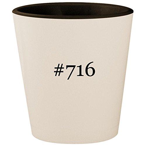 #716 - Hashtag White Outer & Black Inner Ceramic 1.5oz Shot Glass ()