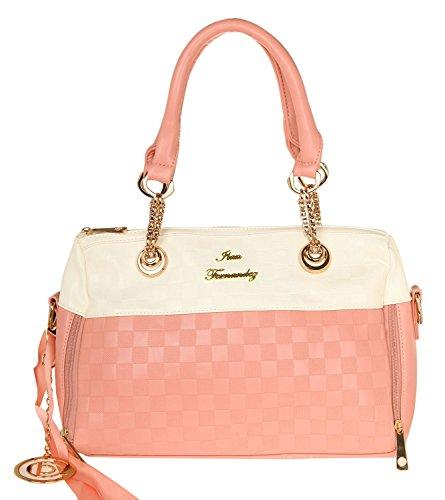 Ilan Fernandez Mujeres Shoulder Bag Rosa-Blanco