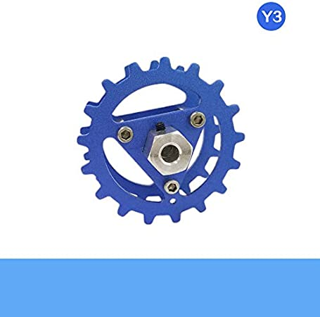 Color: Blue 6mm Coupling Parts /& Accessories DIY Metal Drive Wheel 5.63.5cm Driving Wheel with ID 4//5// 6mm Metal Coupling for RC Robot Tank Chassis Part Unassembled