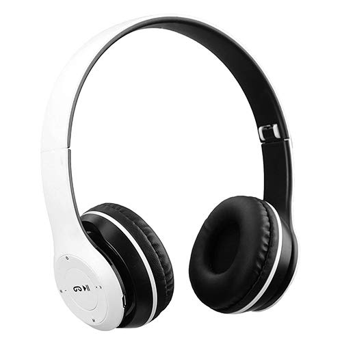 CULQ Wireless Bluetooth Portable Sports Headphones with Microphone Gaming Headset, Stereo Fm,Memory Card Support  White