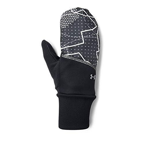 Under Armour Women's Convertible Gloves, Black (002)/Silver, Small