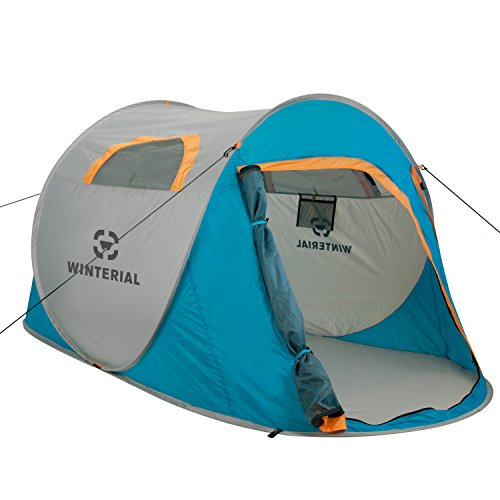 Winterial 2 Person Instant POP UP Tent - Perfect for Camping / Festivals / Over-Night Trips / Quick / Portable Camping Tent