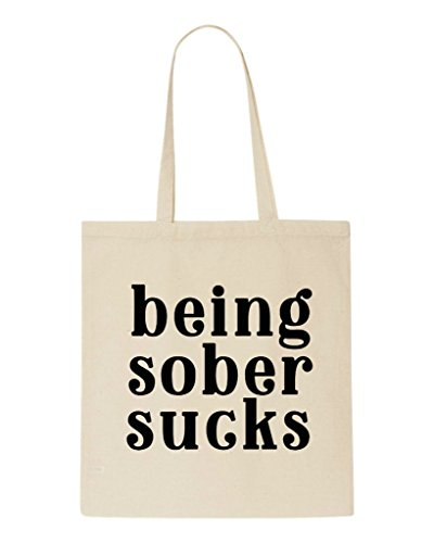 Being Sucks Shopper Tote Statement Sober Bag Beige XAxpXr