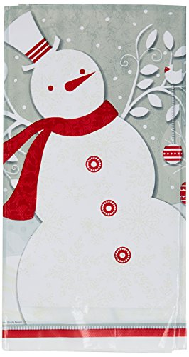 Frosted Holiday Plastic Tablecloth 84