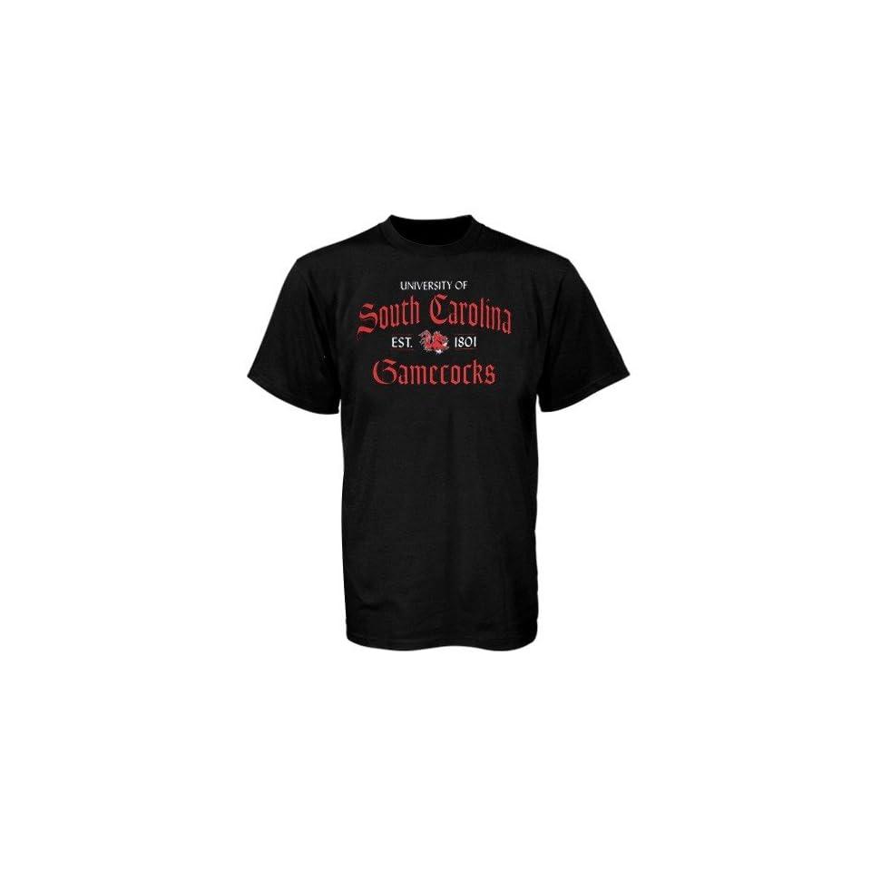 South Carolina Gamecocks Black Old Style T shirt