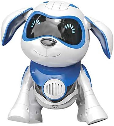 RETYLY Sensor Inteligente del Perrito Robot Robot Perro Juguetes ElectróNicos Hilos del nimal DoméStico Caminará Hablando Remoto Perro Perro Robot Mascota Juguete zul