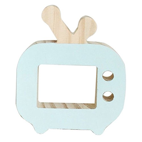 TOOGOO(R) Ins Nordic Style Wooden Toys Creative Room Decoration TV Ornaments Decorate, Mint Green