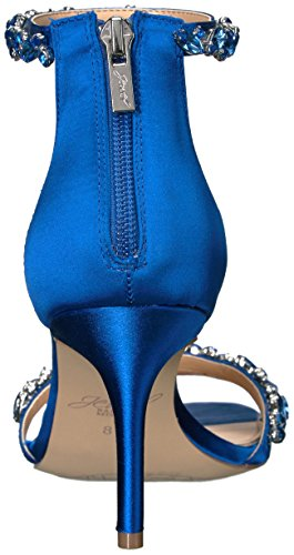 Badgley Mischka Jewel Womens Caroline Dress Sandalo Blu