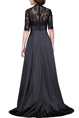 Traube Abendkleider V Brautmutterkleider Kurzarm Blau mit Festlichkleider Formalkleider Dunkel Charmant Damen Ausschnitt 6ZP11w