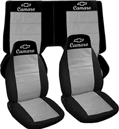 Black And Silver 2000 Chevrolet Camaro Car Seat Covers Front Back