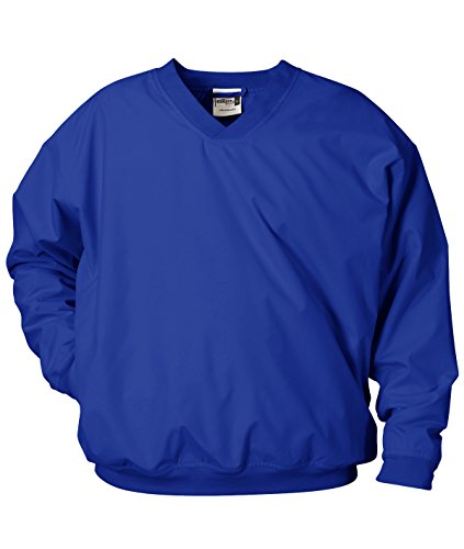 Adult Windshirt - Badger Sportswear Adult Microfiber Windshirt, Royal, XXX-Large