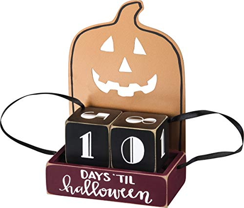 Primitives by Kathy - Countdown Blocks - Days 'Til Halloween - 4.75 inches x 7 inches ()