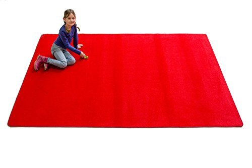 Learning Carpets CPR479 - Solid Red Rectangle by Learning Carpets