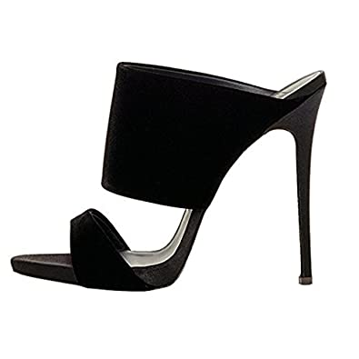 BiancoÜBERKREUZ SLIP ON - Heeled mules - black Xf9RxD0
