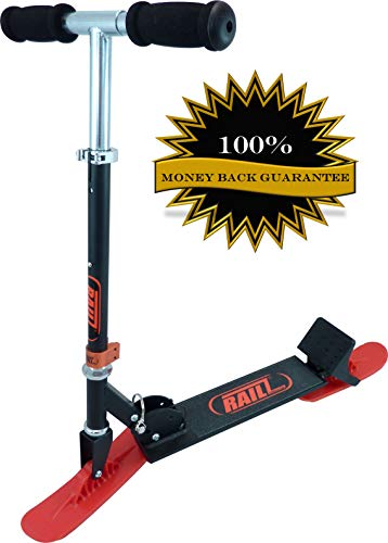 Railz Original Snow sled ski Scooter for Kids. Designed & Patented in The USA. Youth Compact Winter...