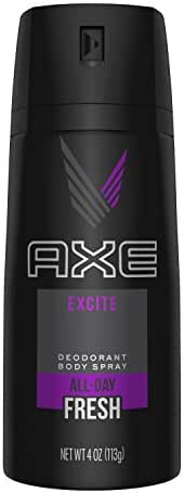 AXE Body Spray for Men, Excite, 4 oz (Pack of 3)