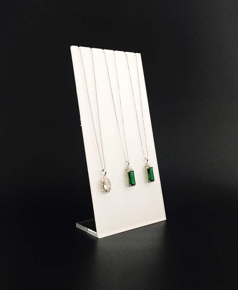 Necklace Panels Svea Display Espositore Trasparente Semi Bianco per Gioielli