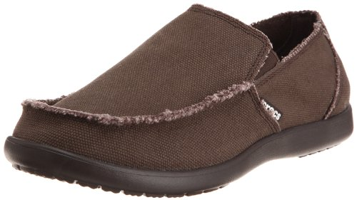Crocs Men's Santa Cruz Loafer, Casual Comfort Slip On, Lightweight Beach or Travel Shoe, Espresso, 12 US Men