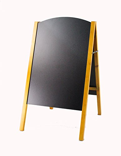 FixtureDisplays 21 x 34 A-frame Chalkboard, Black Dry Erase for Traditional Chalks & Wet Erase for Liquid Chalks, Removable Boards, 2 Sided, Pine 19208 by FixtureDisplays